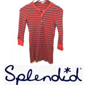 Splendid waffle-knit striped thermal